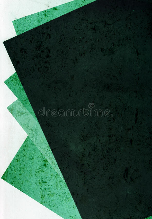 Green papers stock image