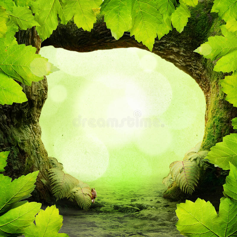 Download Green Paradise stock image. Image of bird, rustic, bark - 39500871