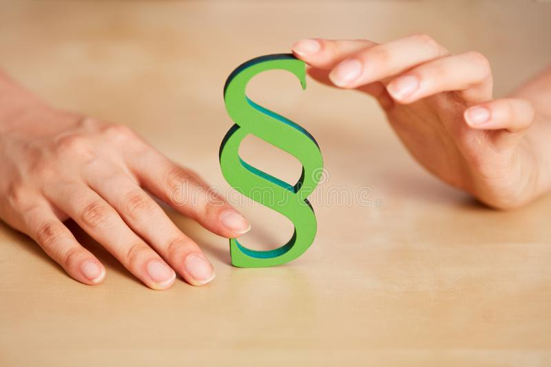 Green paragraph as sustainability concept stock images