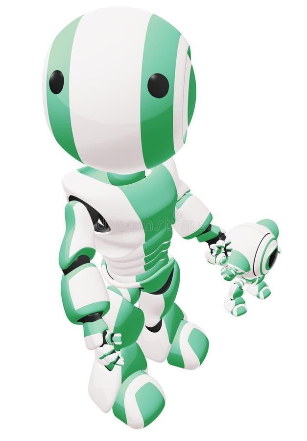 Download Green parent robot stock illustration. Image of artistic - 6228772