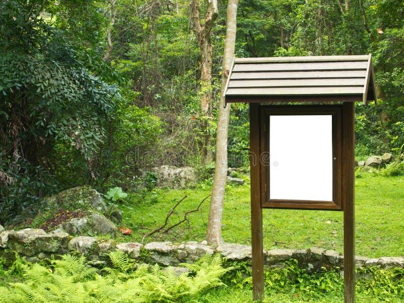 Green Park Blank Notice Board Stock Image