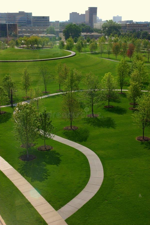 Green park in Minneapolis stock photos