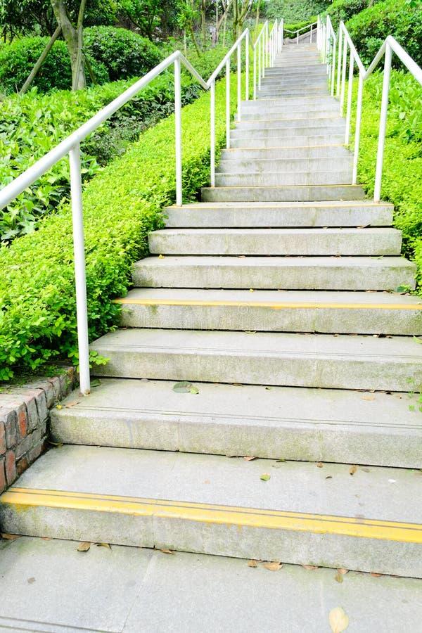 Green park way stock photo