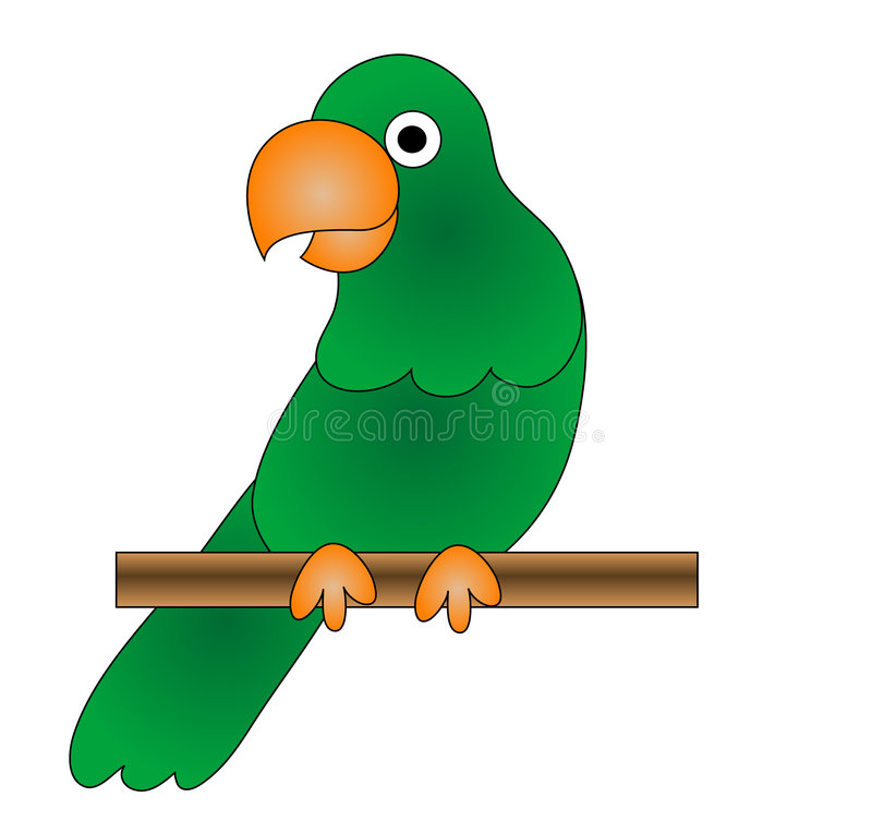 Green Parrot vector illustration