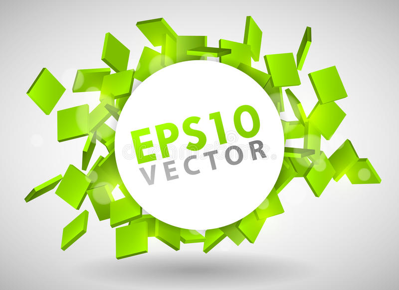Download Green Particles stock vector. Illustration of banner - 19443372