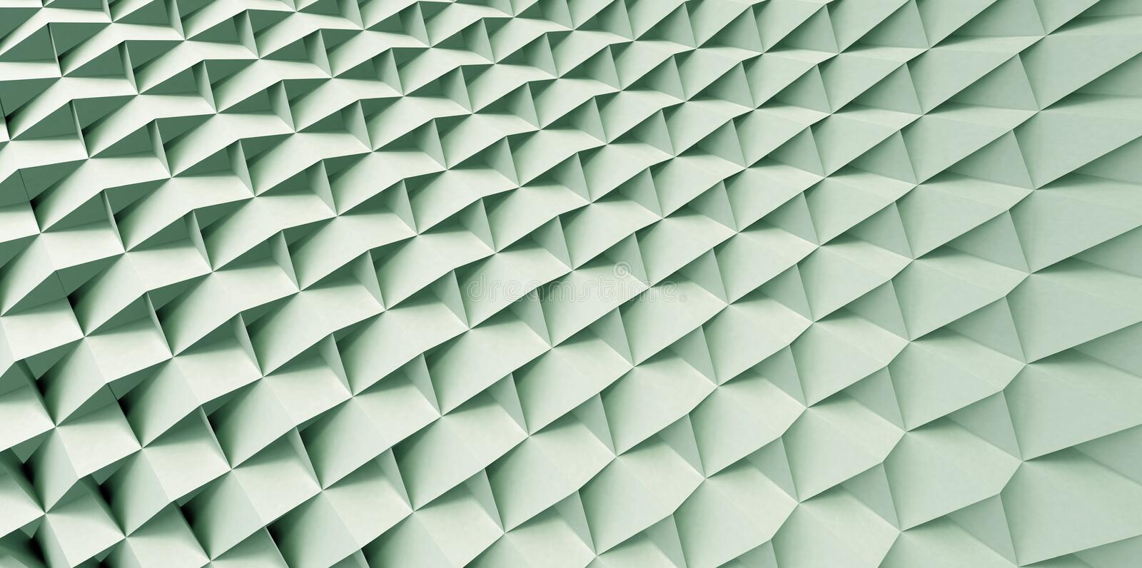 Green Pattern. Green Screen in Curved Pattern stock illustration