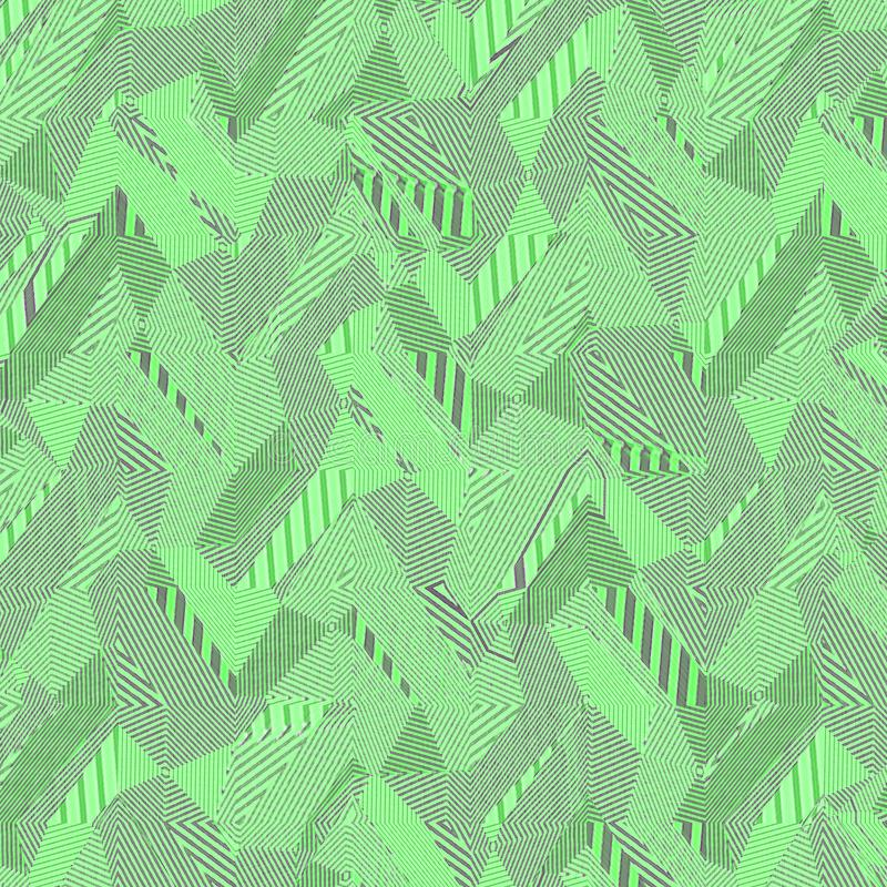 Green pattern of arbitrary shape, patchwork effect. Abstract mosaic pattern vector illustration