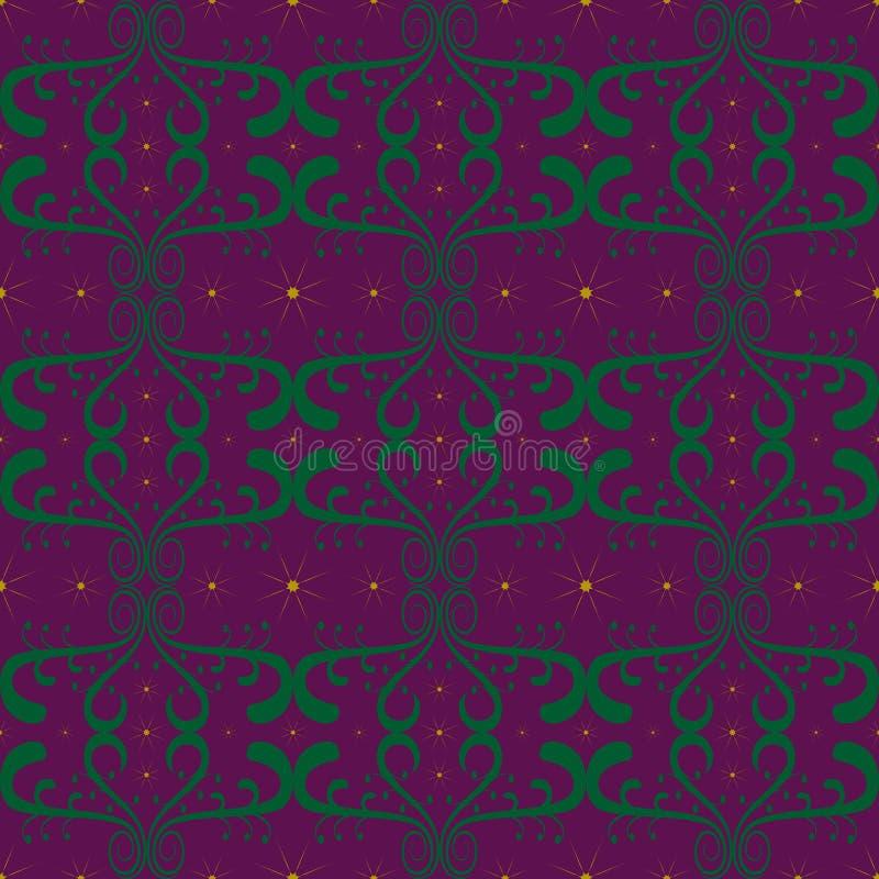 Green pattern purple background purple abstract design yellow star graphics. Green pattern purple background purple abstract design vector yellow star graphics vector illustration