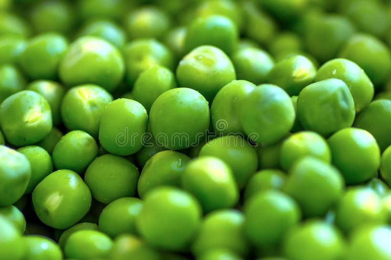 Green pea beads stock images