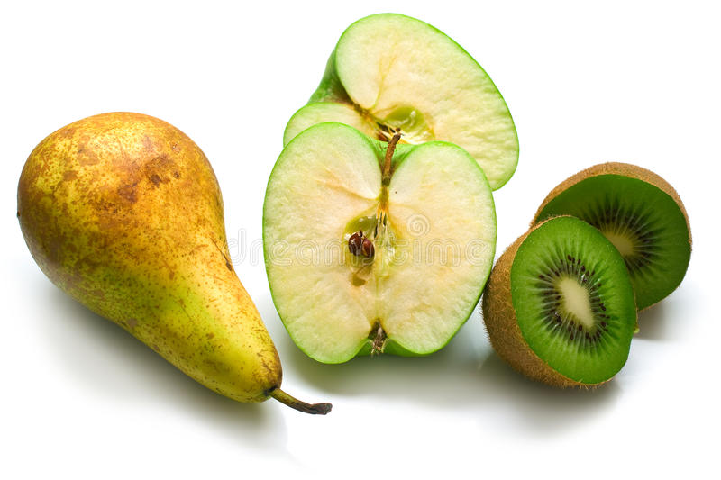 Download Green pear, apple and kiwi stock image. Image of shaggy - 12227105
