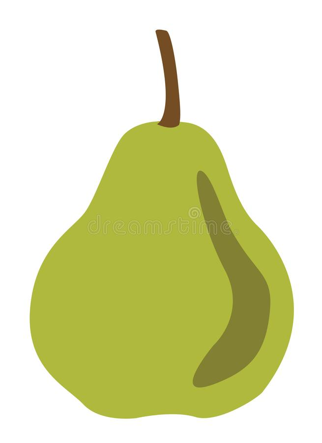 Green pear fruits vector stock photography