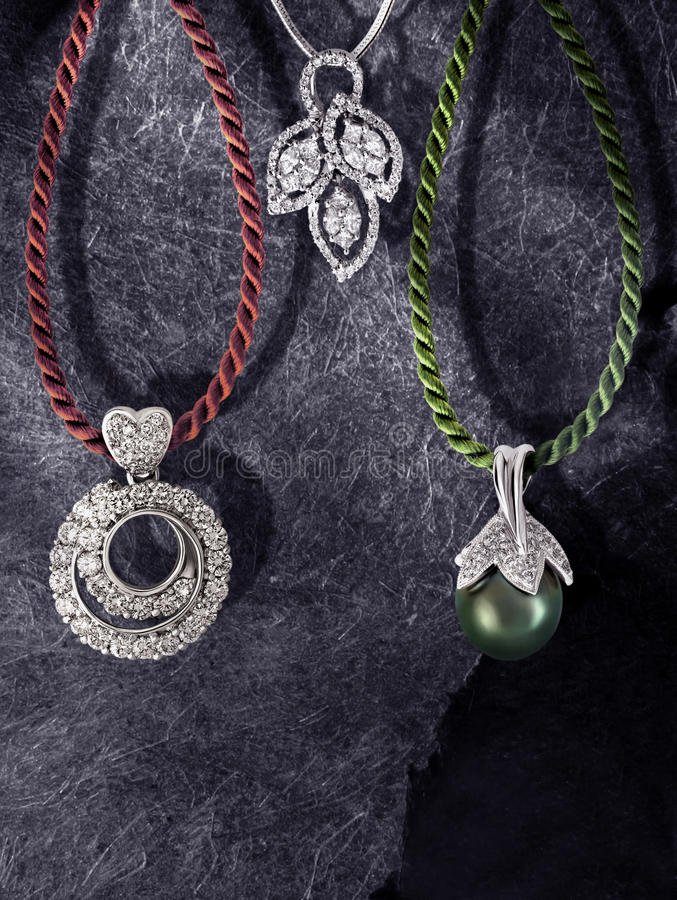 Download Green pearl pendant stock photo. Image of element, valentine - 11957544