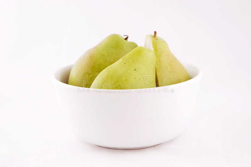 Green pears stock image