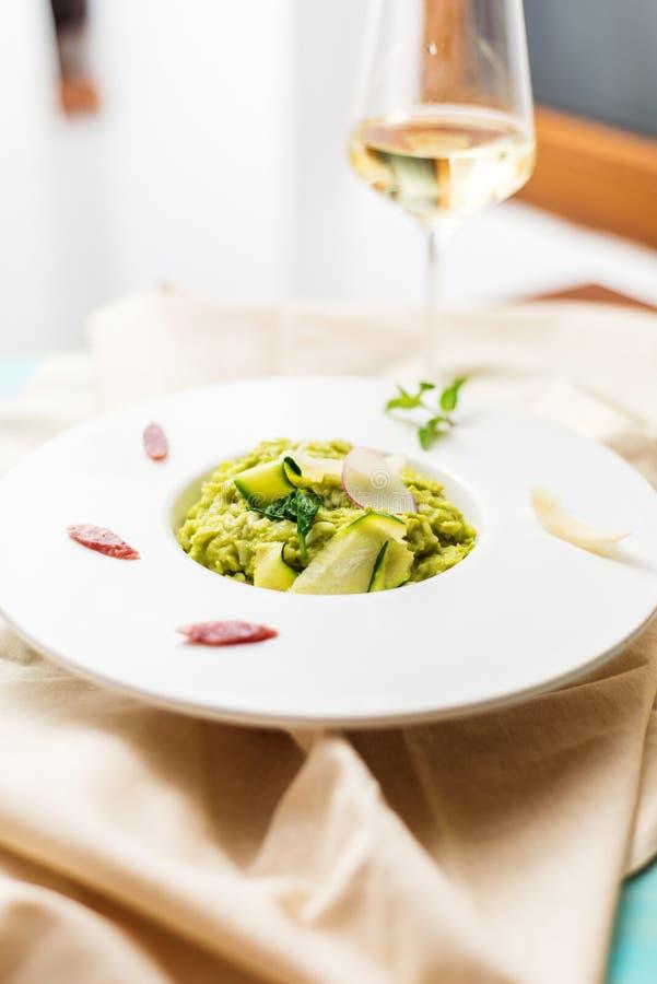 Green Peas risotto stock image