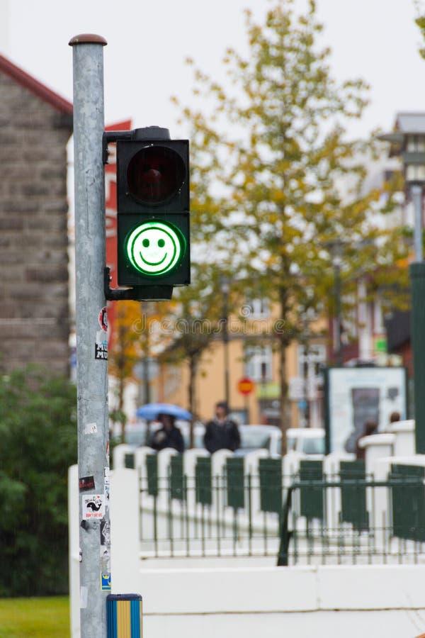 Free Green Pedestrian Traffic Lights With Emoji Royalty Free Stock Photo - 120486905