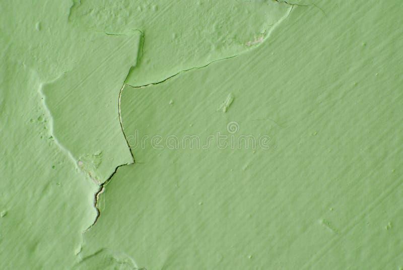 Green peeling paint