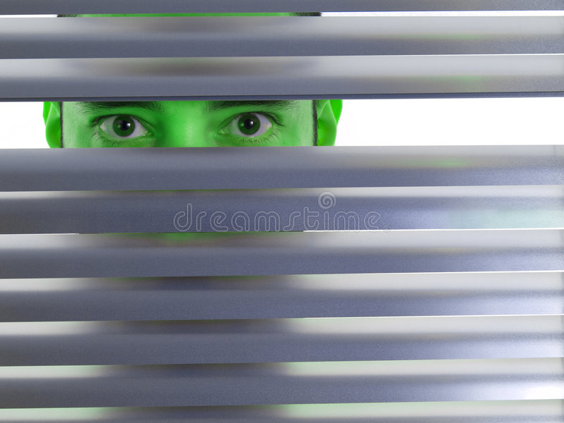 Green Peeping Tom Royalty Free Stock Photography