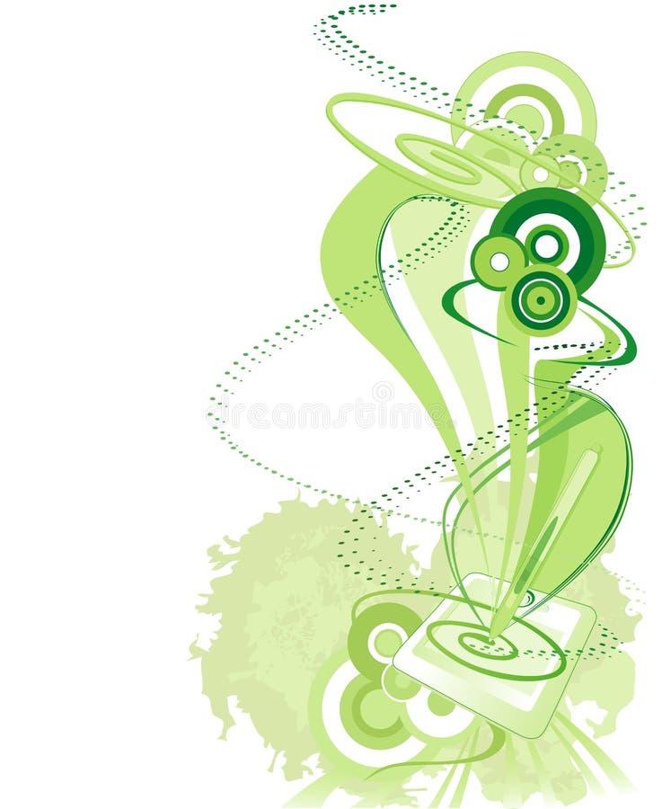 Download Green Pen Tablet Background Stock Vector - Illustration: 8850307