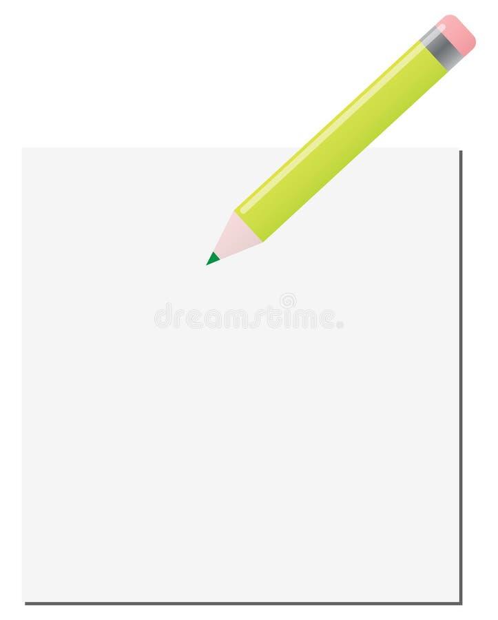 Green pencil royalty free illustration