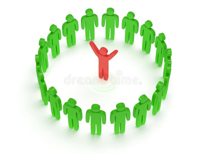 Download Green People Around Red Man. 3D Render. Stock Illustration - Illustration of concept, idea: 34861353