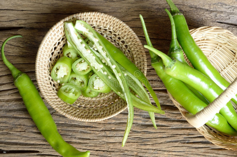 Download Green pepper stock image. Image of view, cayenne, basket - 53930521