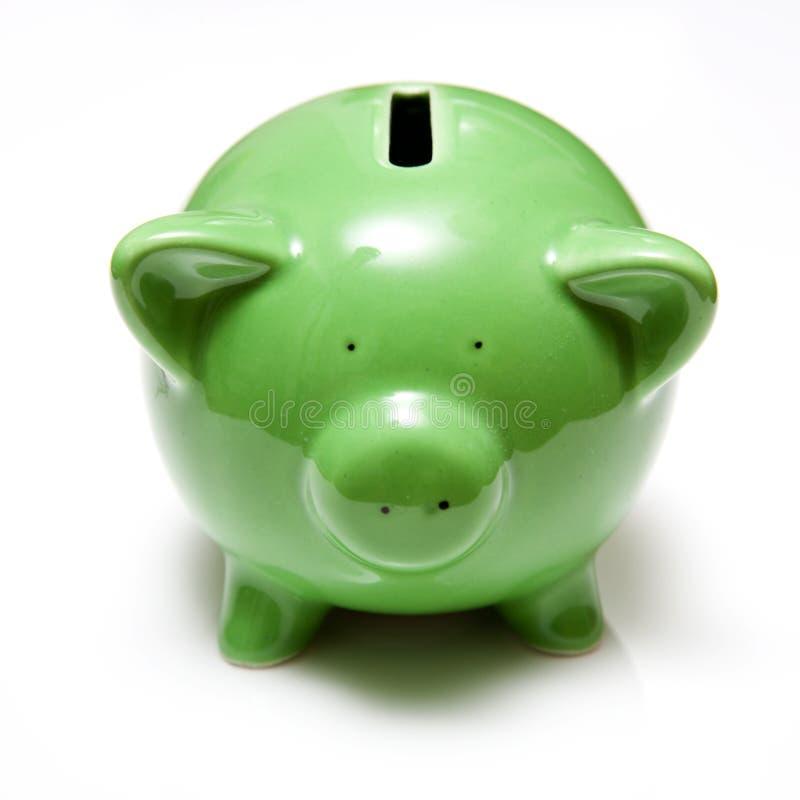 Green Piggy Bank Stock Image