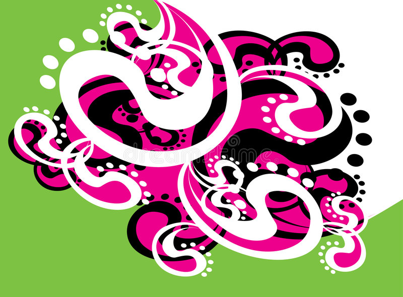 Green_and_pink illustration stock