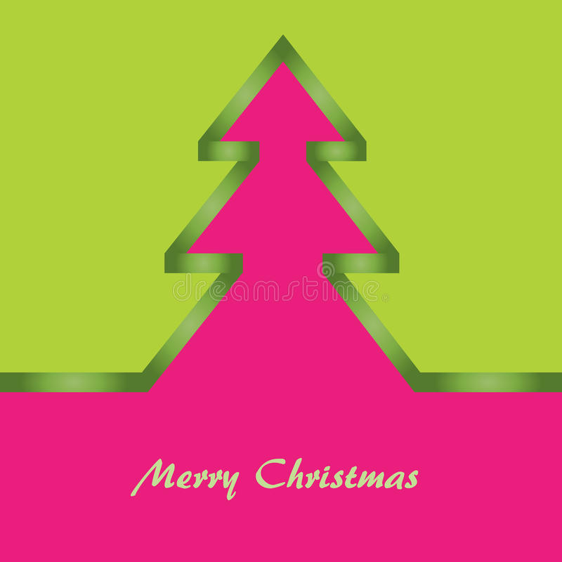Download Green And Pink Christmas Card Stock Vector - Image: 23603074