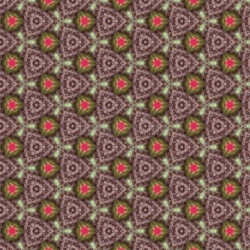 Green Pink Kaleidoscope Paper Pattern royalty free stock images