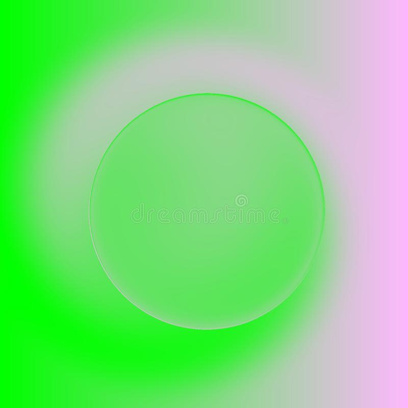 Green, pink spiral background, picture of spring with copyspace vector illustration