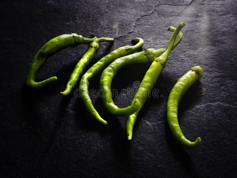 Tasty green piparrak royalty free stock photos