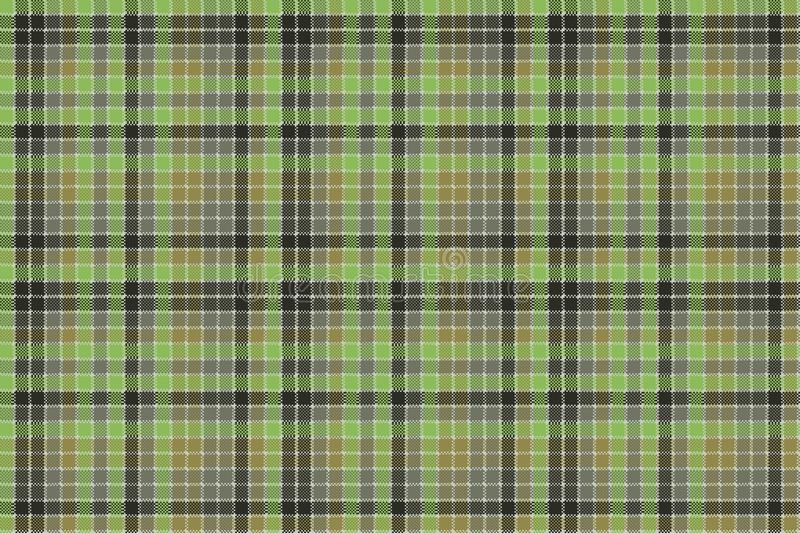 Green pixel mosaic plaid seamless pattern royalty free illustration