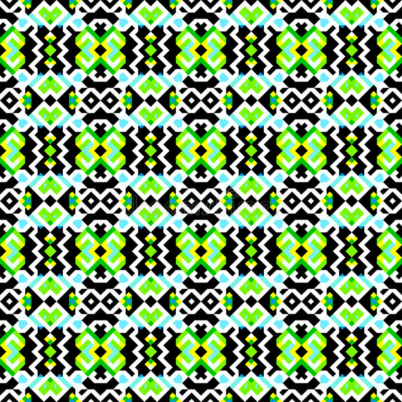 Green pixels bright colored geometric background seamless pattern royalty free illustration