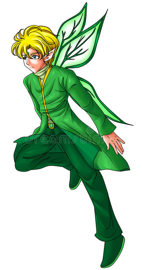 Download Green Pixie stock illustration. Image of beautiful, elfin - 23011639