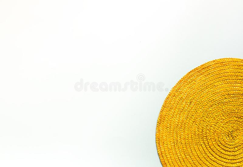 Green place mat wicker background. Green place mat wicker texture background stock photos