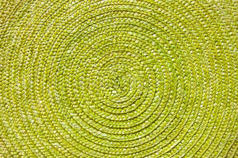 Green place mat texture background. Green place mat wicker texture background royalty free stock photo