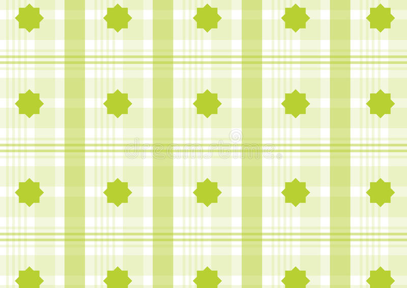 Green plaid royalty free illustration