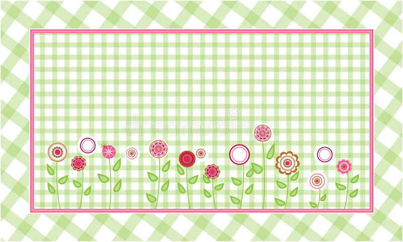 Green plaid background royalty free illustration