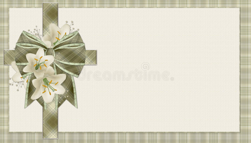 Green Plaid Christian Cross Background royalty free illustration