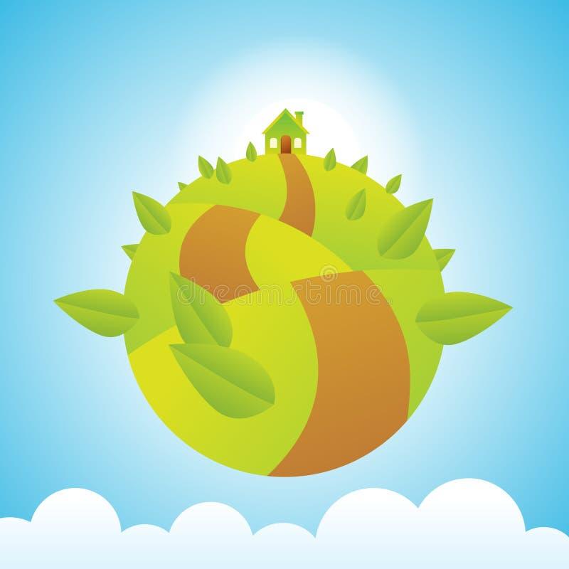 Download Green Planet stock illustration. Illustration of overlapping - 20172517
