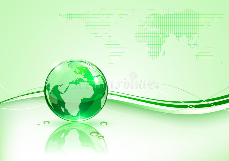 Download Green Planet stock vector. Illustration of reflection - 24924069