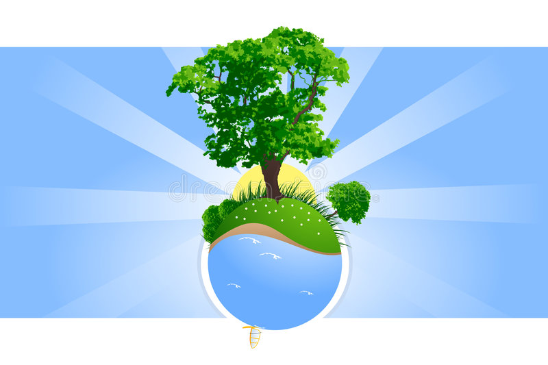 Green Planet Stock Photo