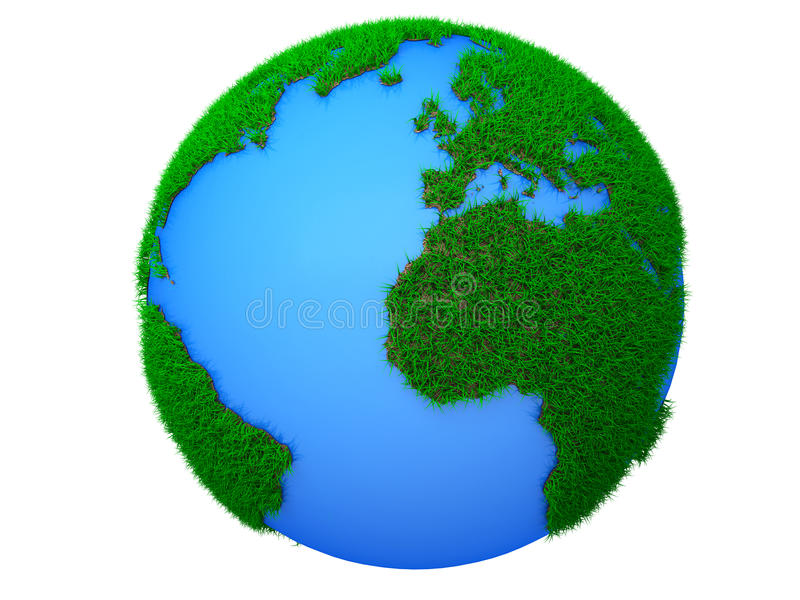 Green planet dream vector illustration