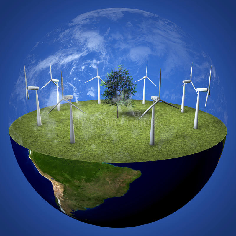 Download Green Planet Earth stock illustration. Image of safety - 18969680