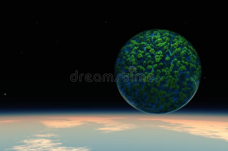 Green planet ecology and nature stock illustration
