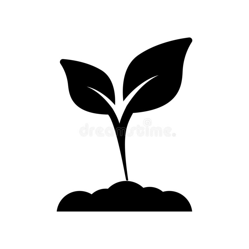 Green plant color icon vector. Plant illustration symbol. for web sites. royalty free illustration