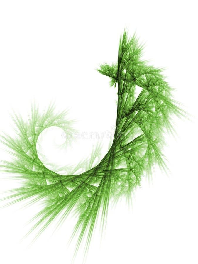 Green plant fractal background royalty free illustration