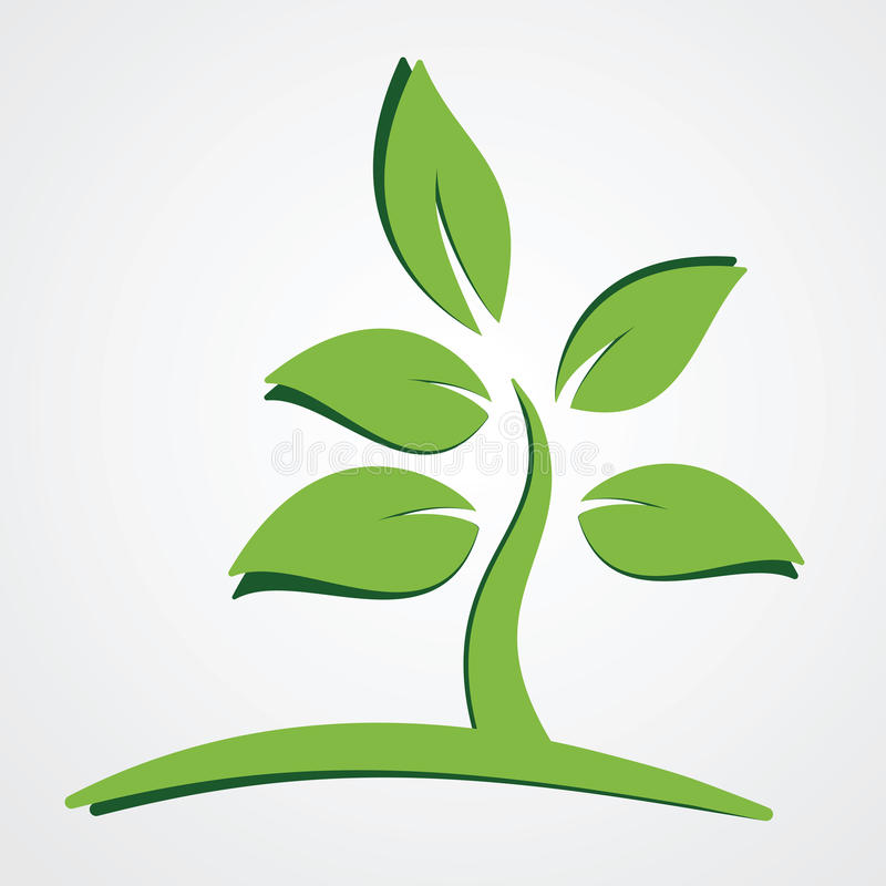 Green plant nature concept vector illustration
