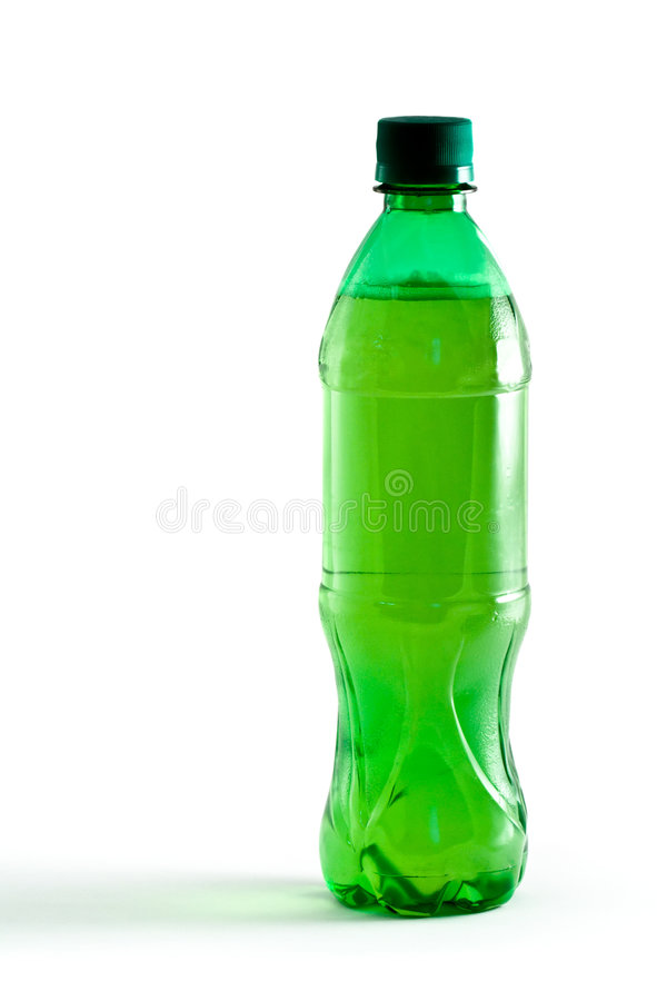 Free Green Plastic Bottle With A Drink Stock Photo - 4116310