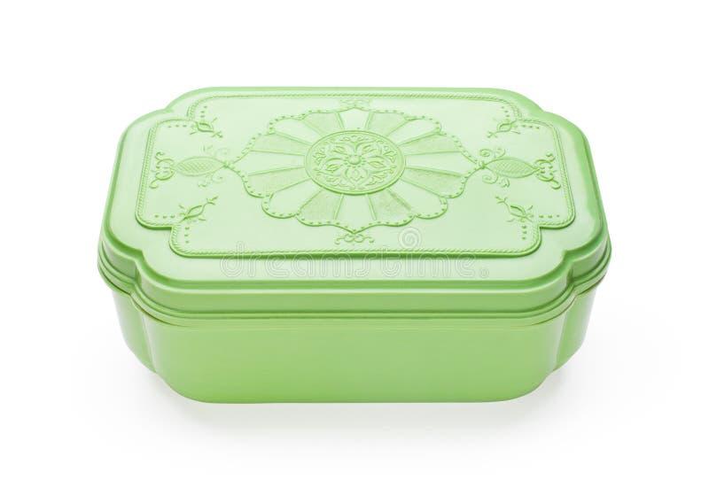 Green plastic casket